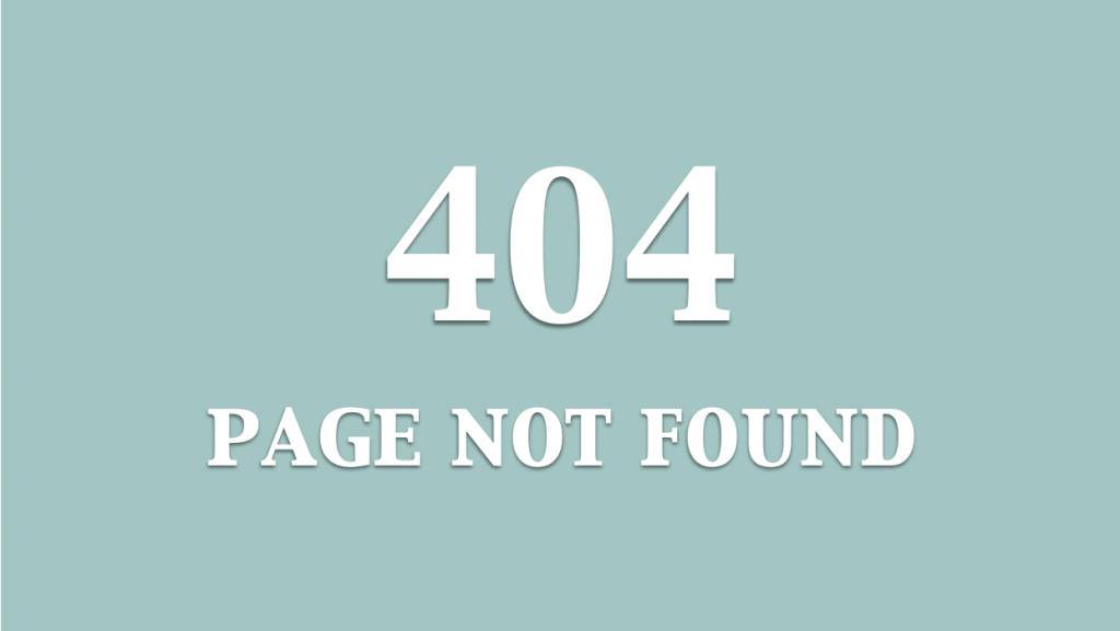 an example of 404 not found screen